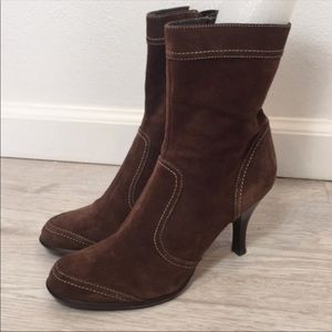 "Nine West Suede Ankle Boot 3.5"" Size 7.5"